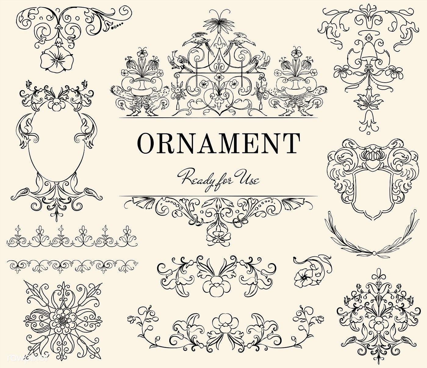 Vintage Flourish Ornament Illustration Free Image By Rawpixel Com Vector Free Ornaments Illustration