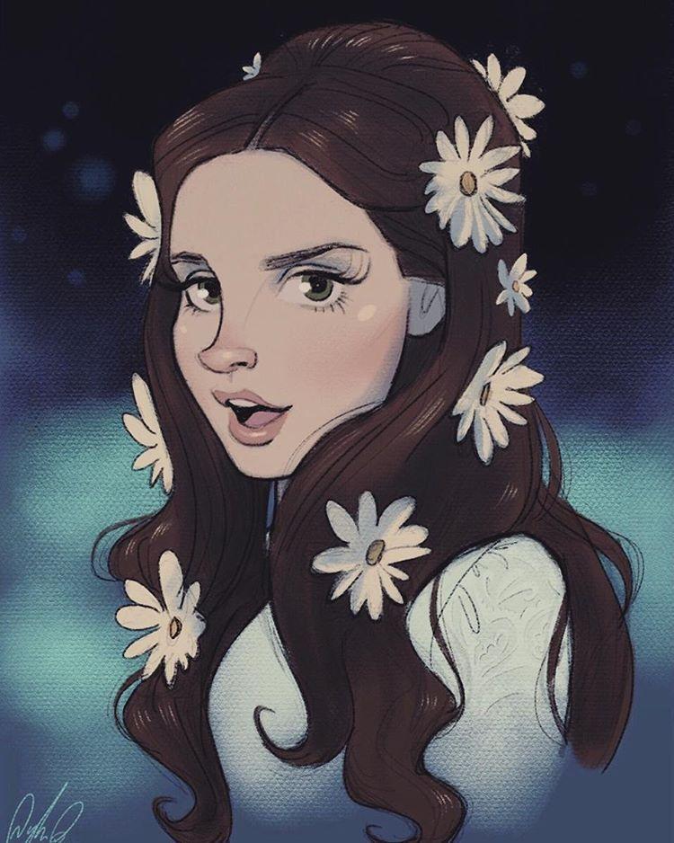 Lana Del Rey Dibujos Arte De Historietas Como Dibujar Cosas