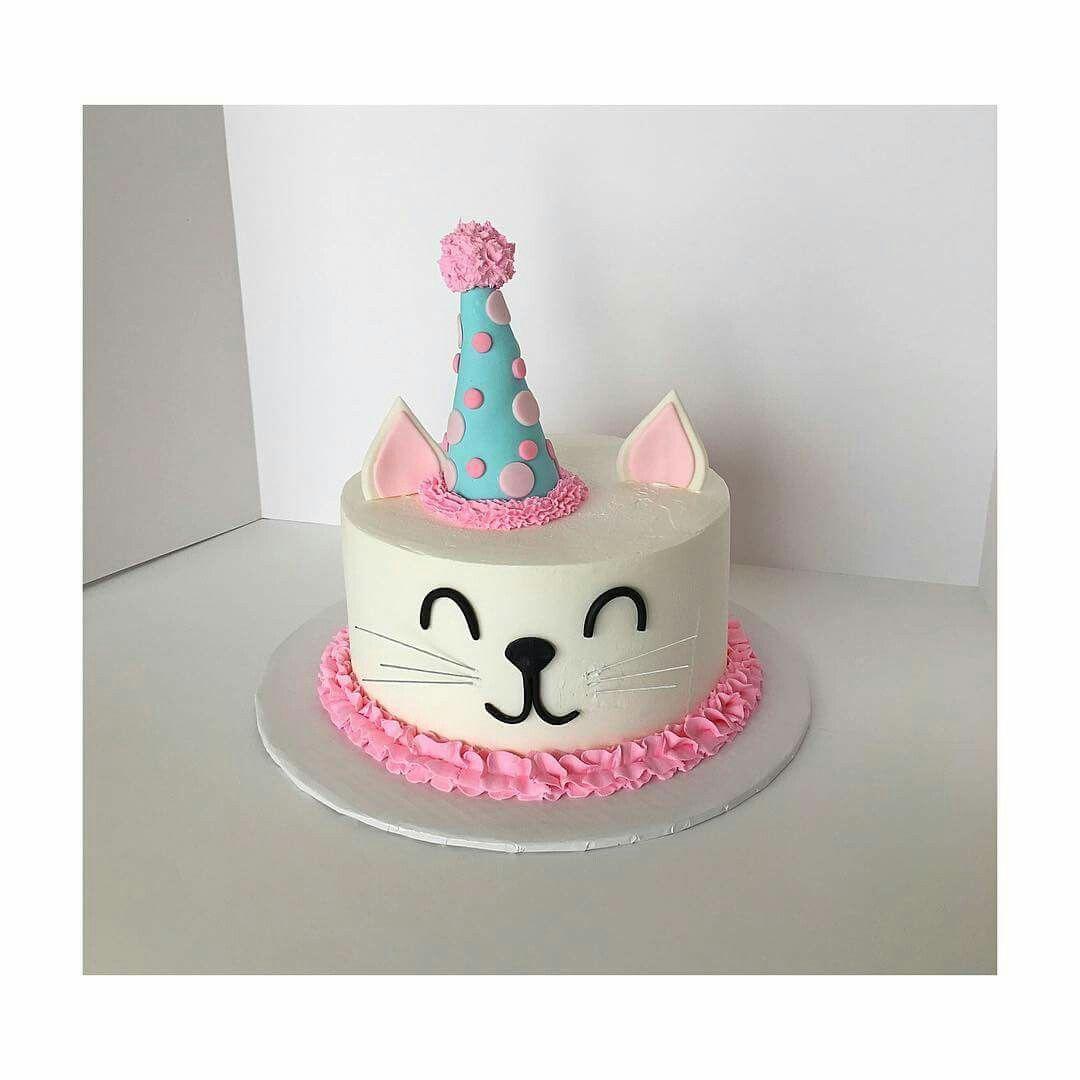 Kitty Birthday Cake Cat 1st Cakes Themed Parties Ideas