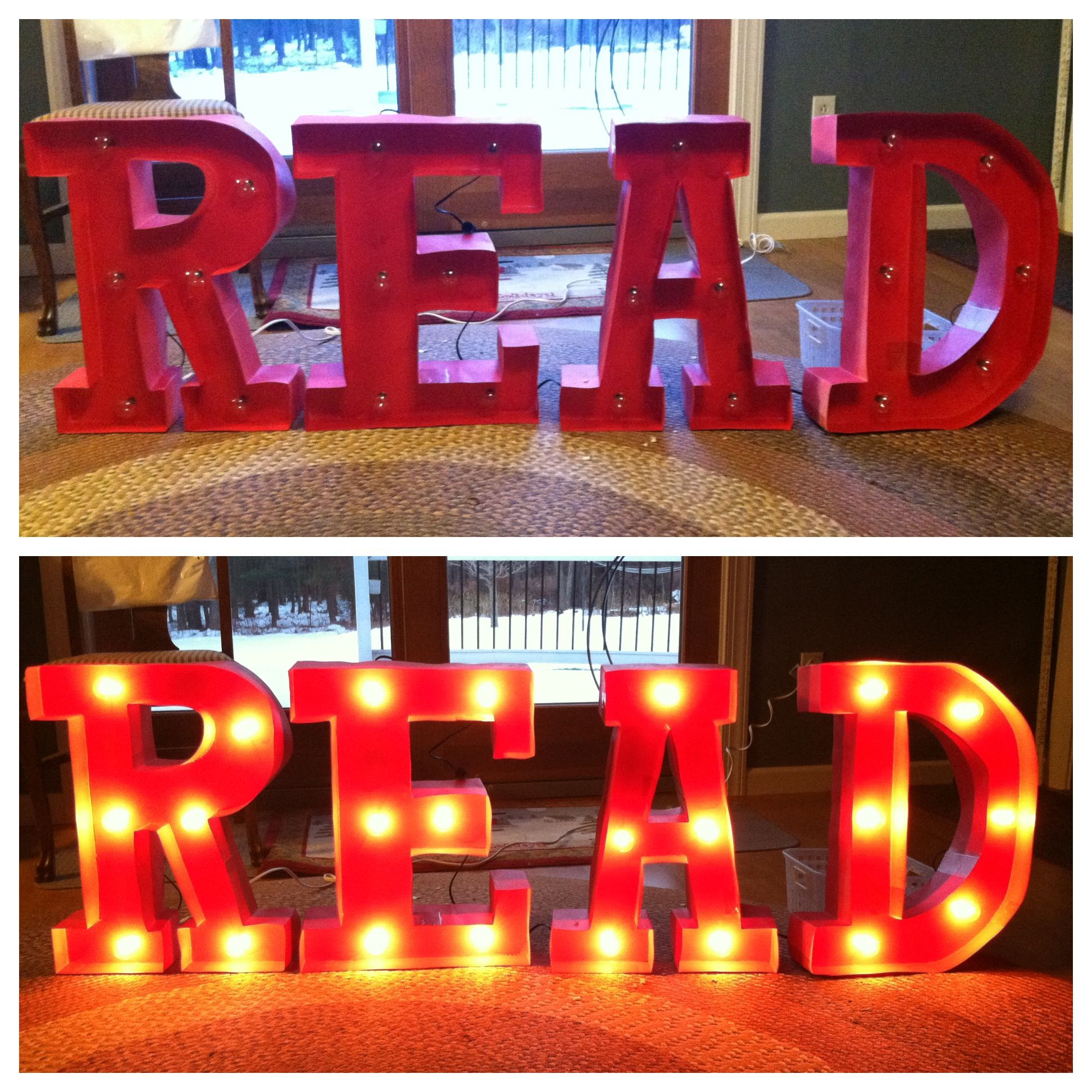 Diy Read Marquee Sign For Library