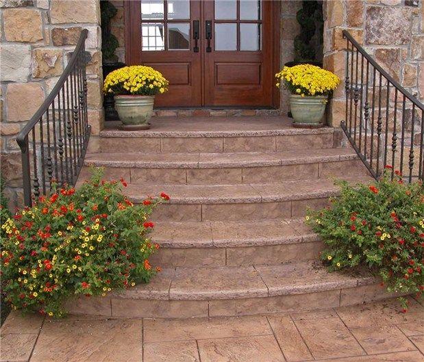 Concrete Front Porch Steps | Steps and StairsArtisticrete, LLCNoblesville, IN