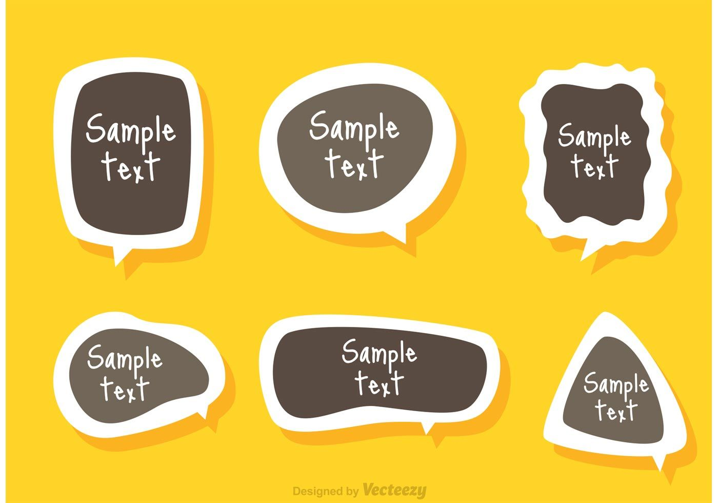 text box template sticker vector nice ui templates vector free