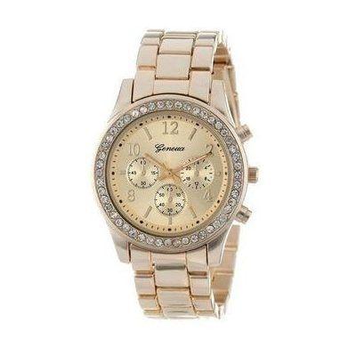 Reloj Geneva Mujer De Metal Con Brillantes - S . 40 f6b41a30b358