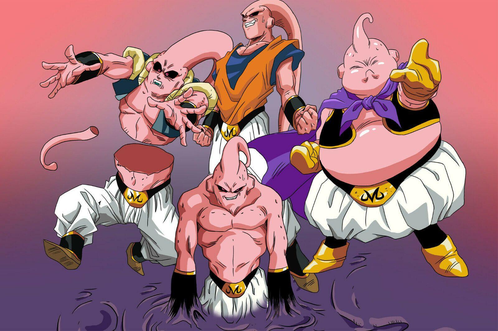 Dragon Ball Z Poster Majin Boo 4 Forms 12in X 18in Free Shipping Dragon Ball Anime Dragon Ball Dragon Ball Super Goku