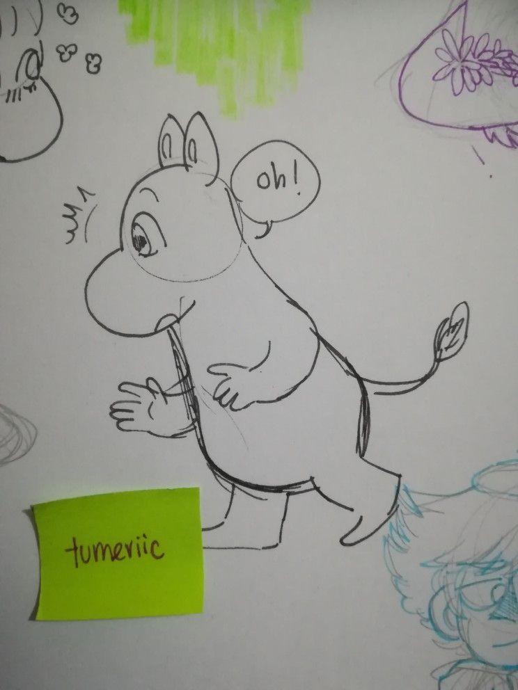 ik how to draw moomin now ye