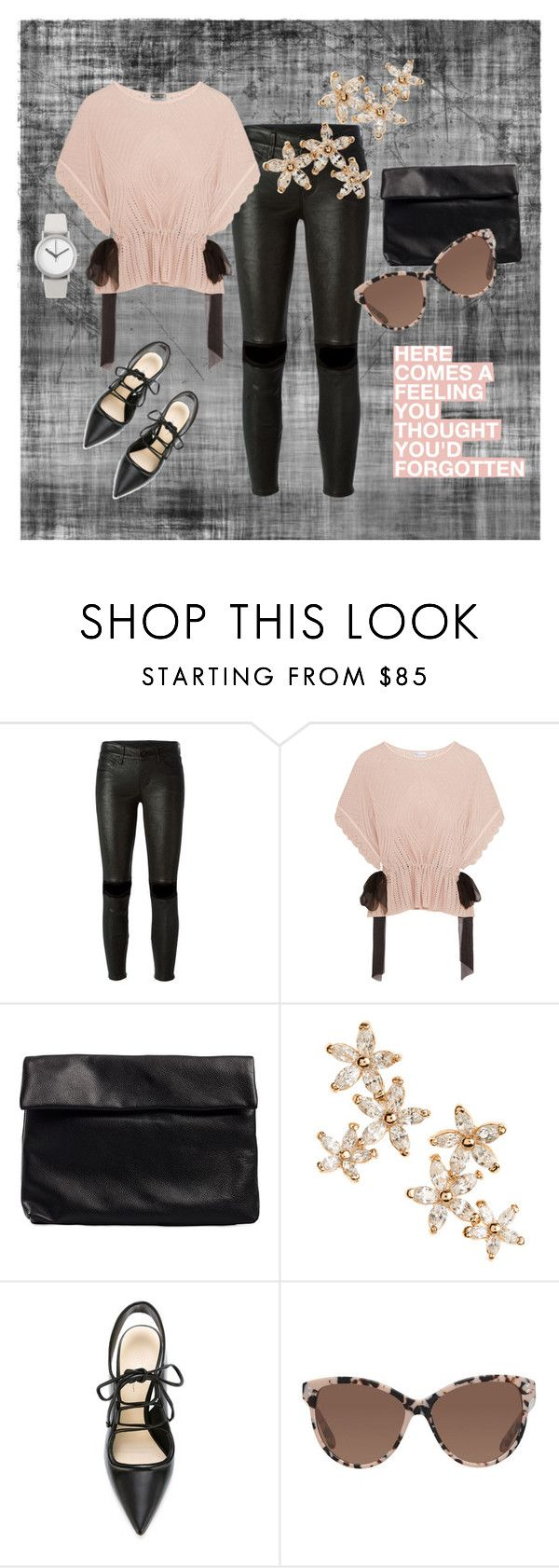 """""""Forgotten Feeling"""" by gemmajam ❤ liked on Polyvore featuring RtA, RED Valentino, Nelly, Bonheur, 3.1 Phillip Lim, STELLA McCARTNEY, Normal Timepieces, black, blush and forgottenfeeling"""