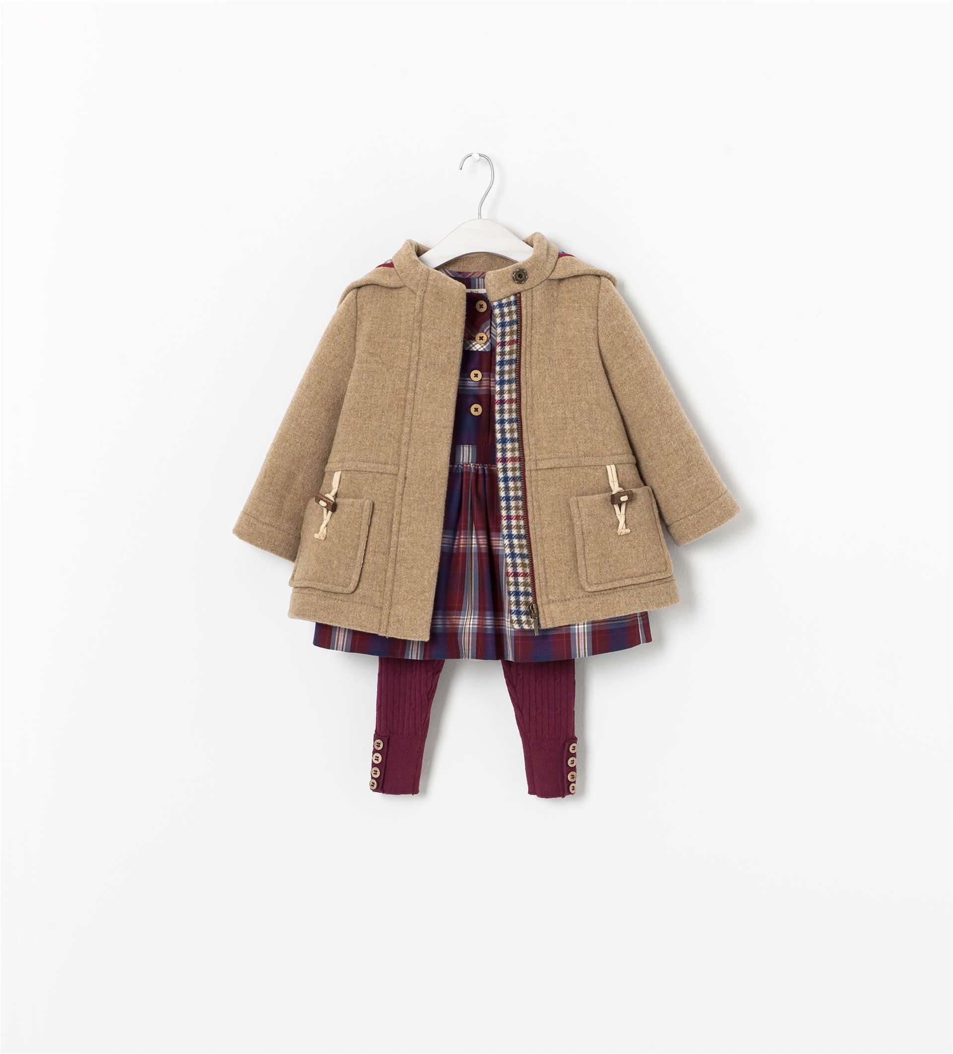 Image 4 of CHECKED DRESS from Zara | Kids outfits, Kids ...
