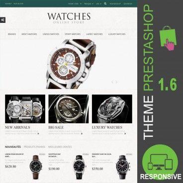 Thème PrestaShop 1.6 pour site de vente en ligne destiné à la commercialisation de montres : montres hommes, montres femmes, montres unisexe, montres sport…