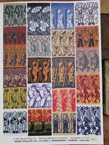 Lot knitting machine pattern books, fair isle colorwork, monogram ...