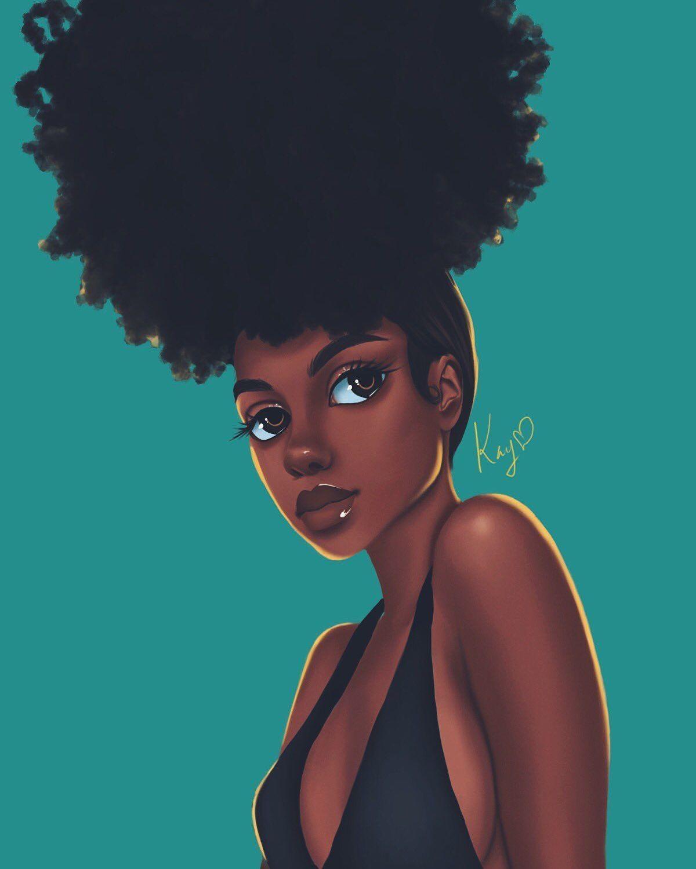 Check Out My Other Pins Thatgoodhair Black Girl Art Black Girl Cartoon Black Love Art