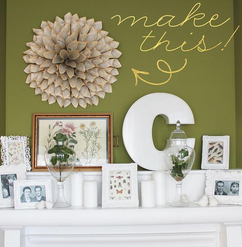 Amanda Cowley Sweet Events Tutorial Make This Diy Paper Book Page Wreath Vintage Home Decor Wedding