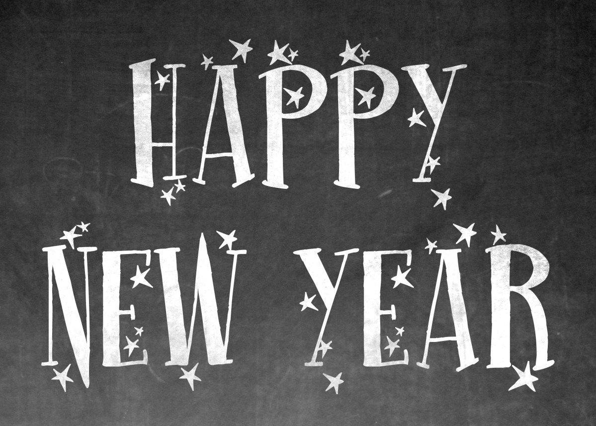Happy New Year's EVE! Free chalkboard wall art printable # ...