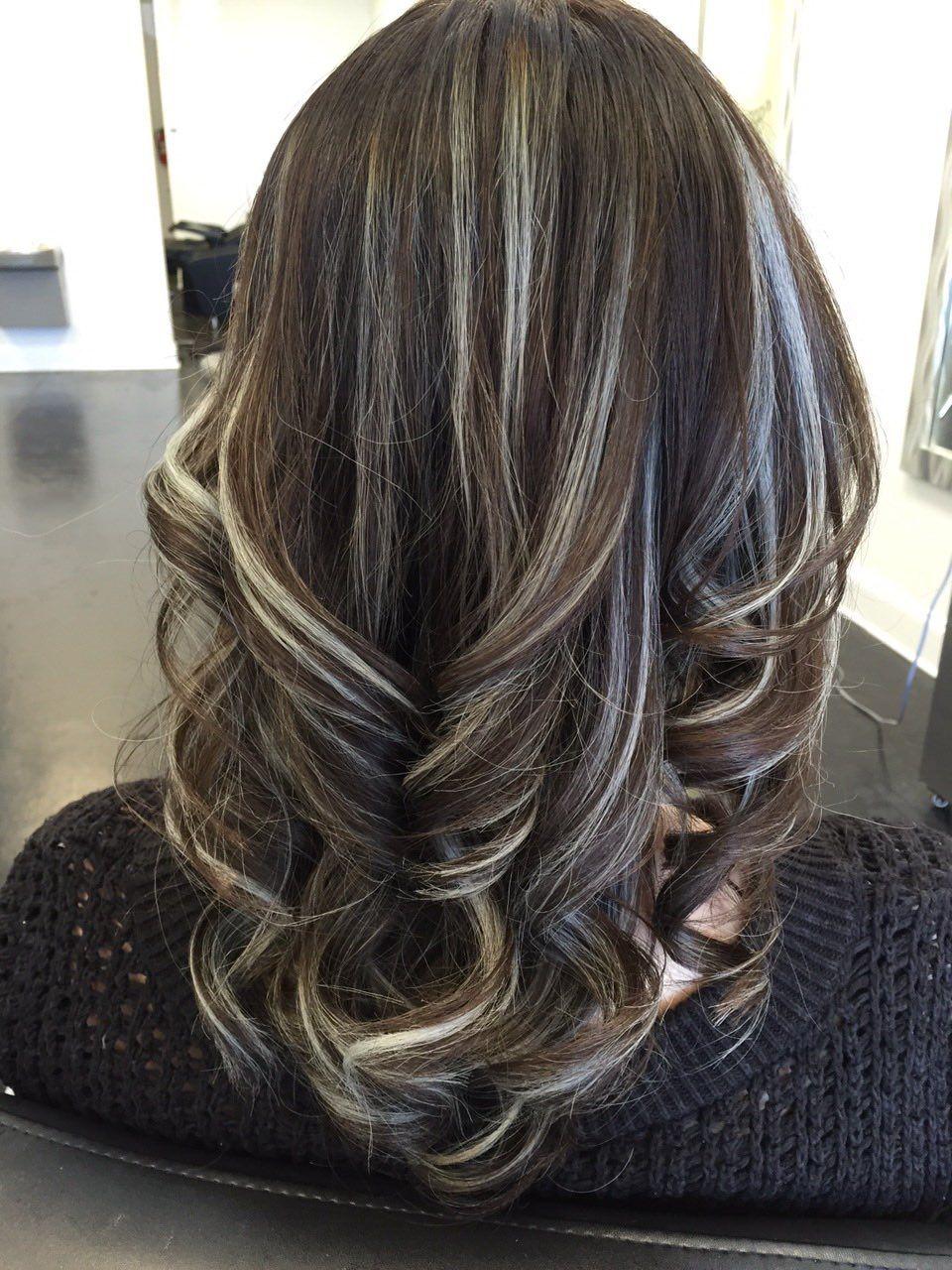 Metallic Highlights Light Brown Hair Frosted Hair Hair