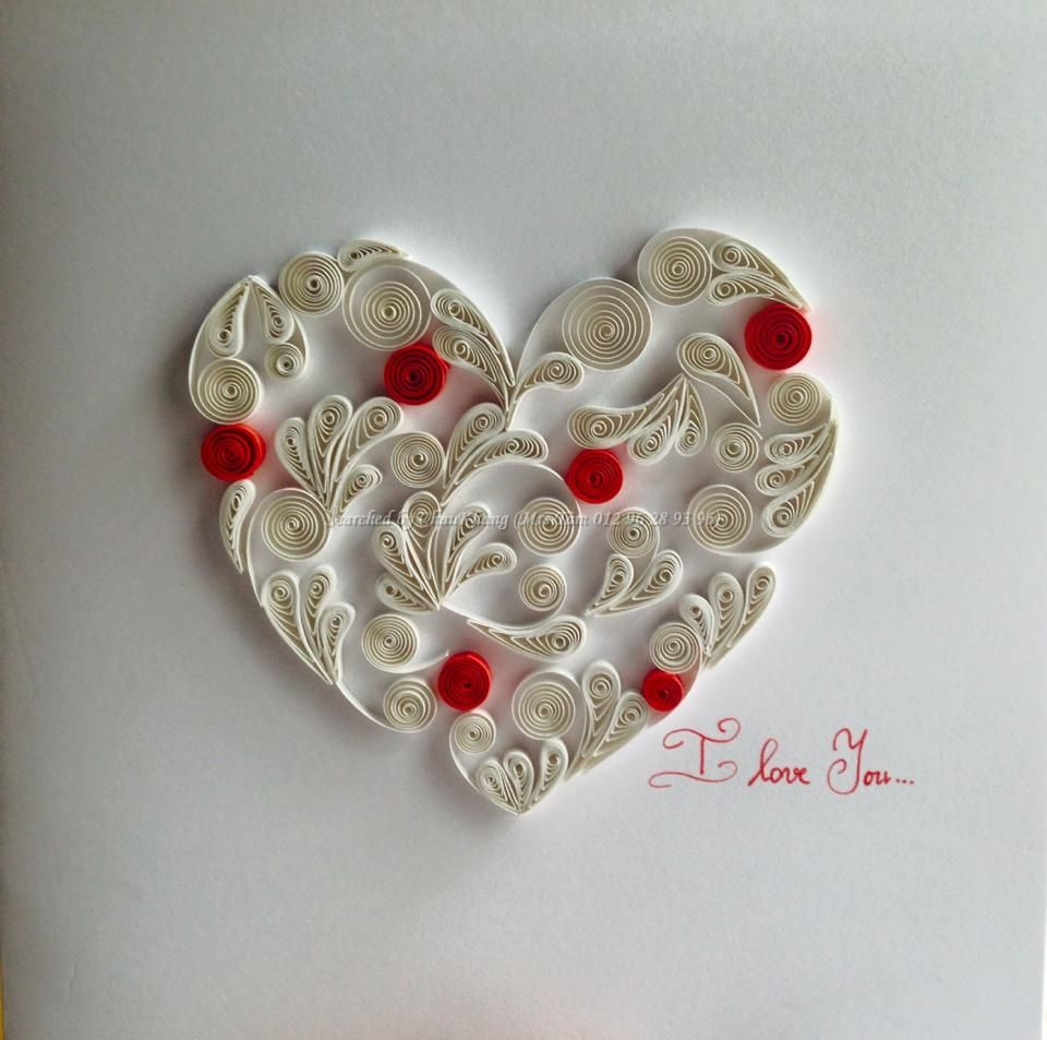 Thuy trang quilled heart pictures searched by for Quilling heart designs