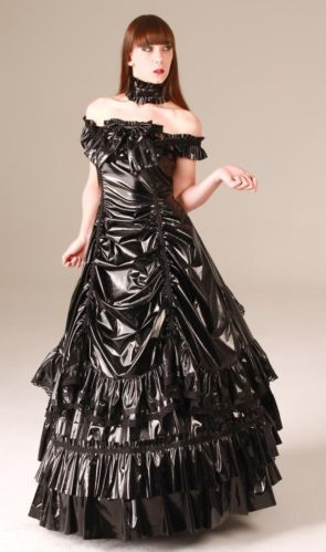 ANDERSARTIG Black Empress Lack-Ballkleid PVC Dress Ballgown GOTHIC ...