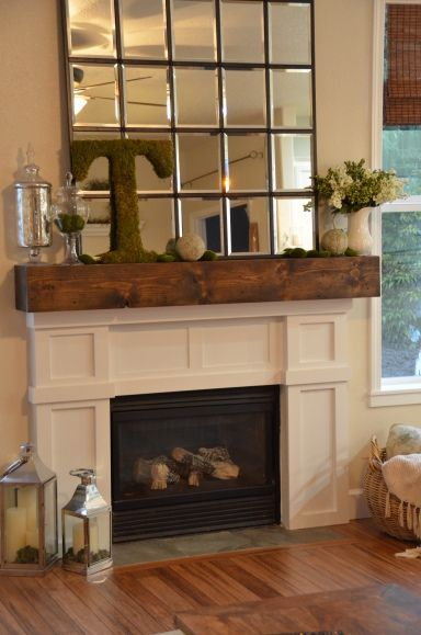 Mantel Fire Place  Mantles Pinterest Ma maison, Manteau - renovation maison soi meme