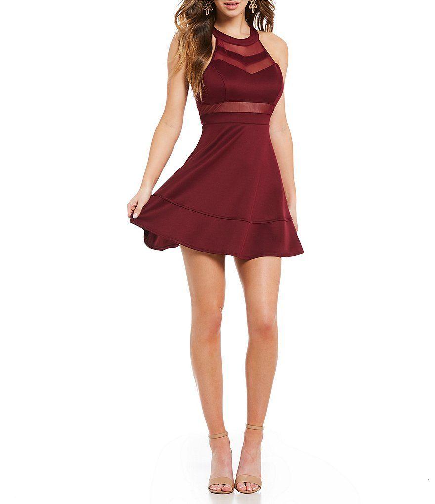 3e9ea8803f Scuba Crepe Fit-and-Flare Halter Dress