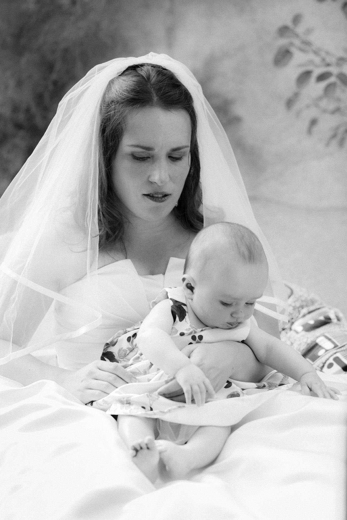 Awesome bride and loving mother at her wedding in Burgundy by PhilArty  artyLove