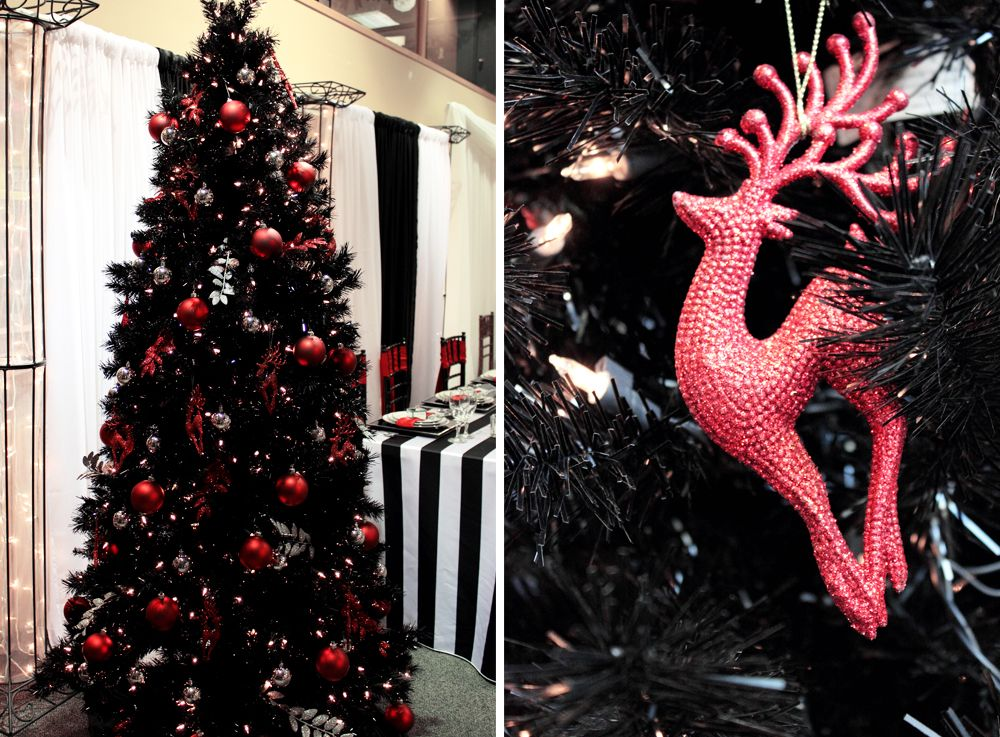 unique christmas tree themes christmas decoration ideas for black christmas trees - Small Black Christmas Tree
