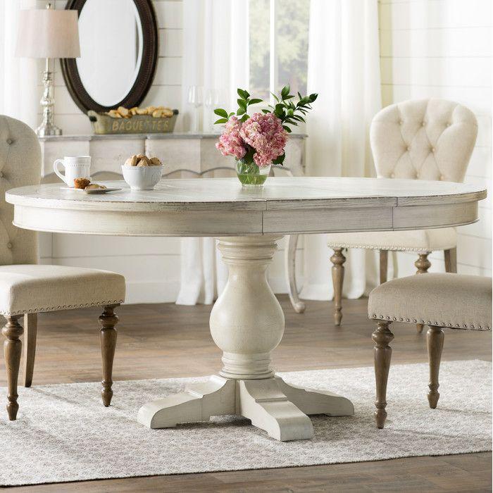 One Allium Way Quevillon Extendable Dining Table  Reviews Wayfair