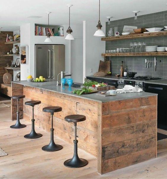 Kuchen Selber Planen Kucheninsel Holz Kitchens Pinterest