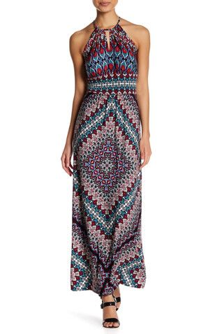 Alexis: Like this print for the beach. And a halter neckline looks good on me.