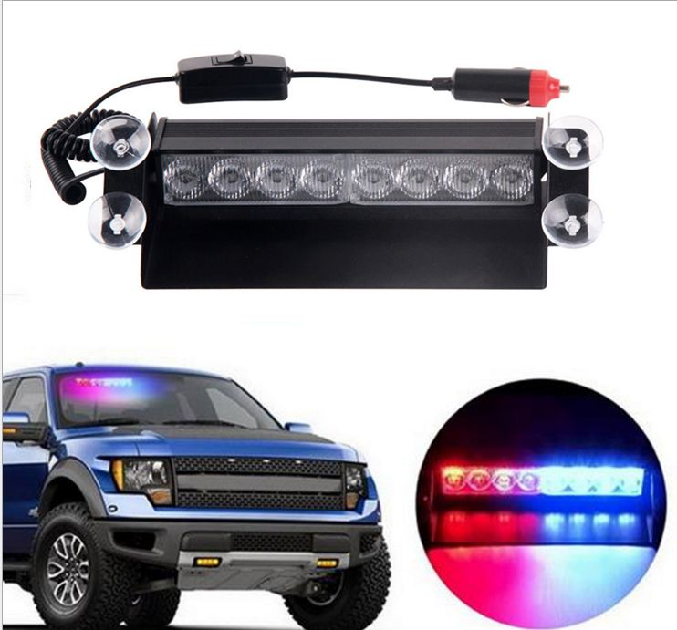 Strobe Lights For Cars Brilliant Sale Blue Red 8 Led Car Emergency Warning Dashboard Dash Visor