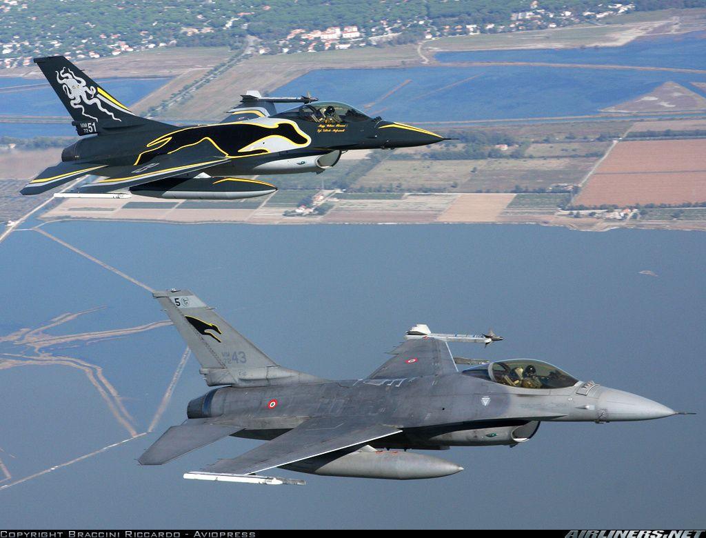 Italian Air Force General Dynamics F-16A Block 15 ADF Fighting ...
