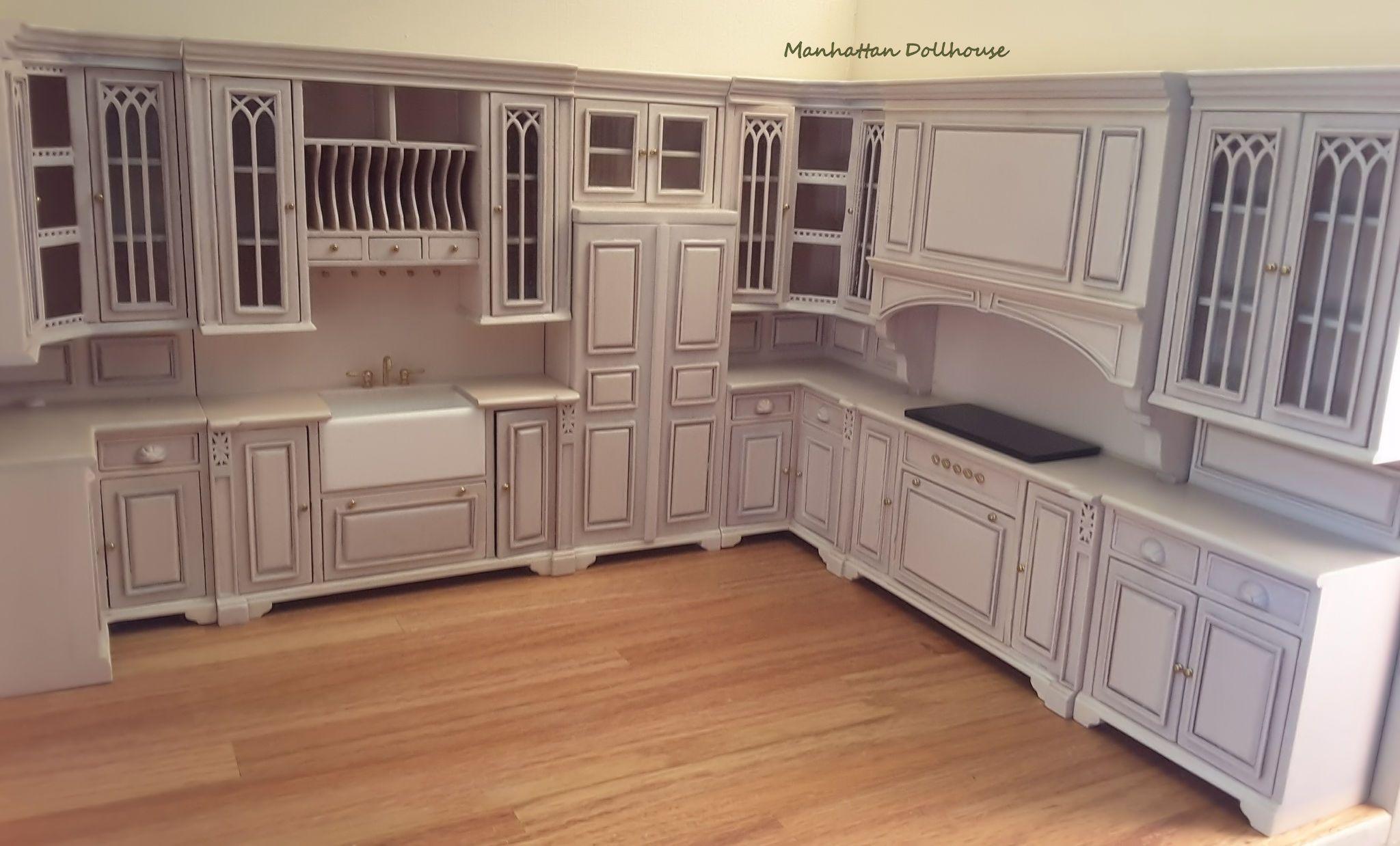 Miniature cambridge manor kitchen set white wash click image to
