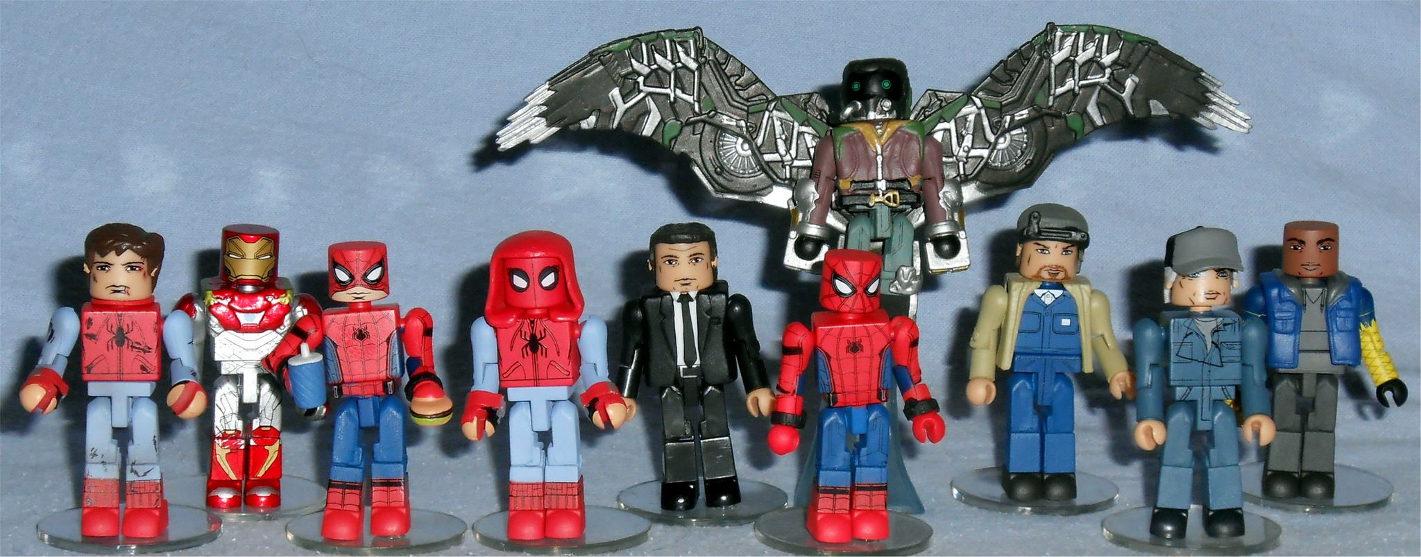 Marvel Minimates SDCC Spider-Man Homecoming Movie Spider-Man /& Adrian Toomes