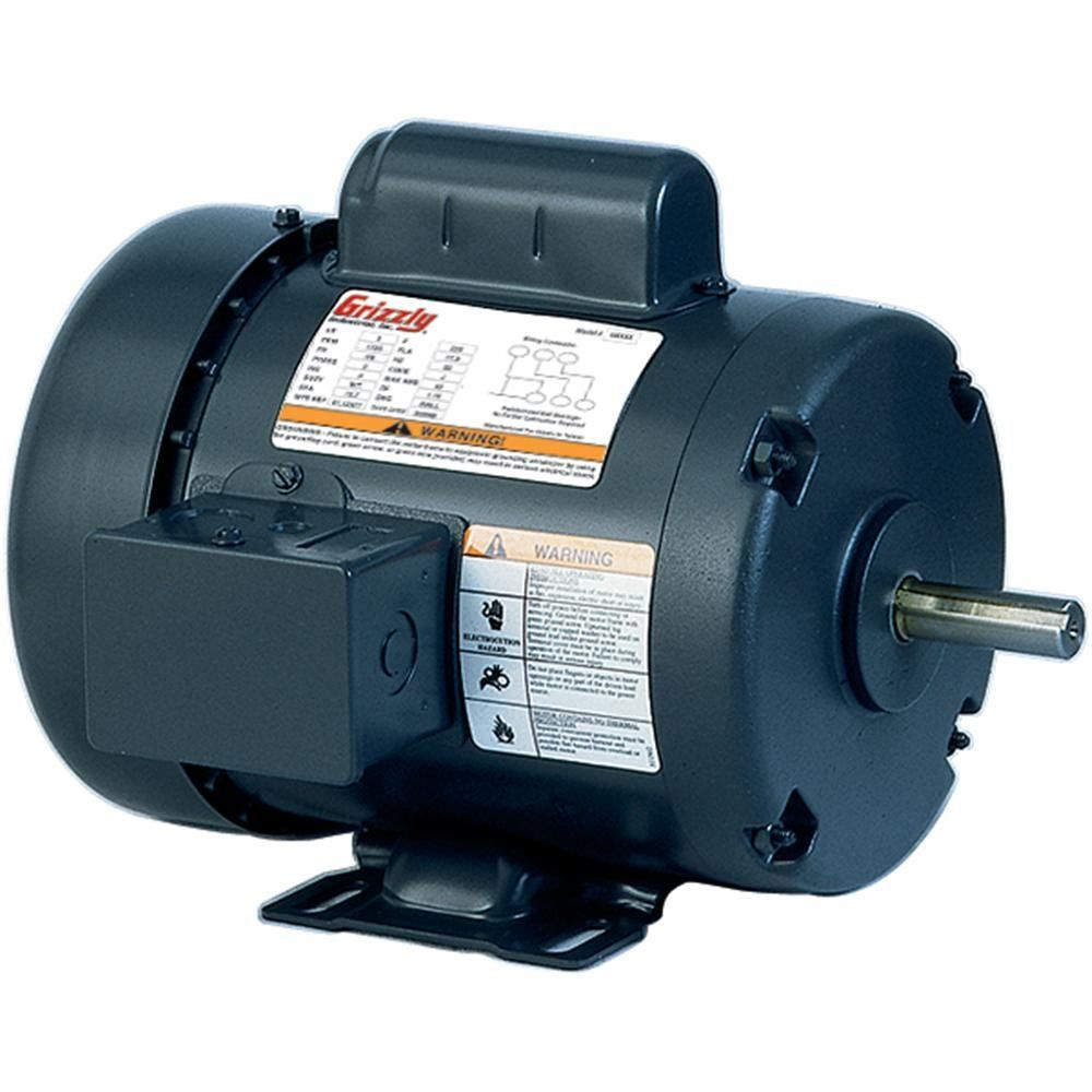 Grizzly H5377 Motor 3 4 Hp Singlephase 1725 Rpm Tefc 110v 220v Continue To The Product At The Image Link This Is An Affil Electric Motor Home Improvement Air Compressor