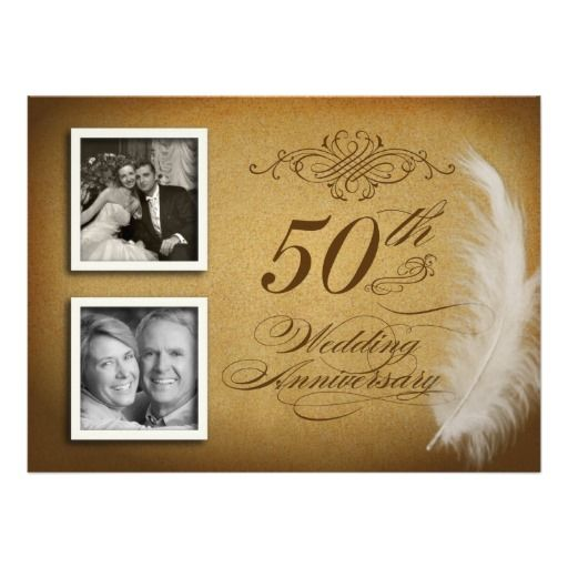 50th Anniversary Fancy Feather 2 Photo Invites in each seller & make purchase online for cheap. Choose the best price and best promotion as you thing Secure Checkout you can trust Buy bestShopping          50th Anniversary Fancy Feather 2 Photo Invites lowest price Fast Shipping and ...