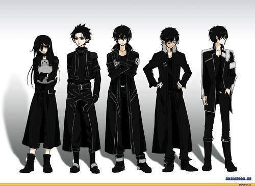 Kirito's avatars. Sword Art Online