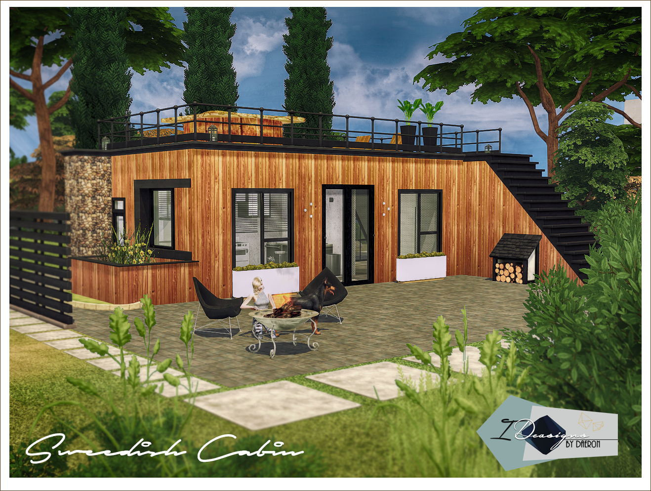 Swedish Cabin Sims 4 Designs Sims 4 Lots Pinterest Sims