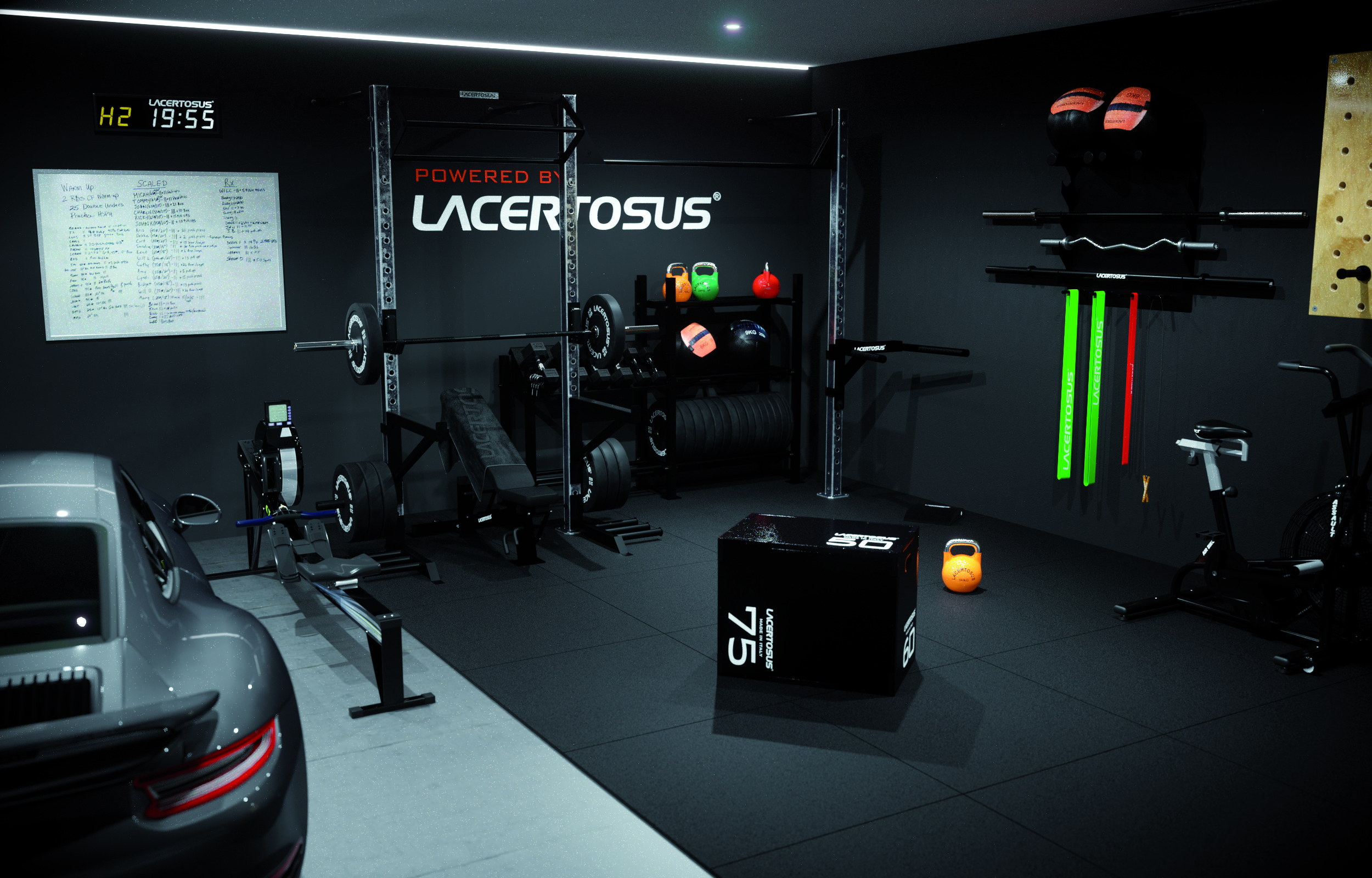 Garage Gym With Car Lacertosus Homegym A Perfect Home Gym In Your Garage With Or