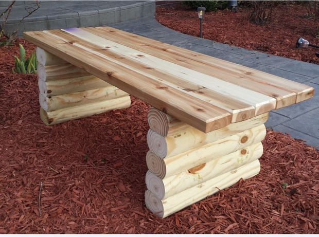 picture of easy garden bench i would love to make these and place them where we use our fire pit - Easy Garden Furniture To Make