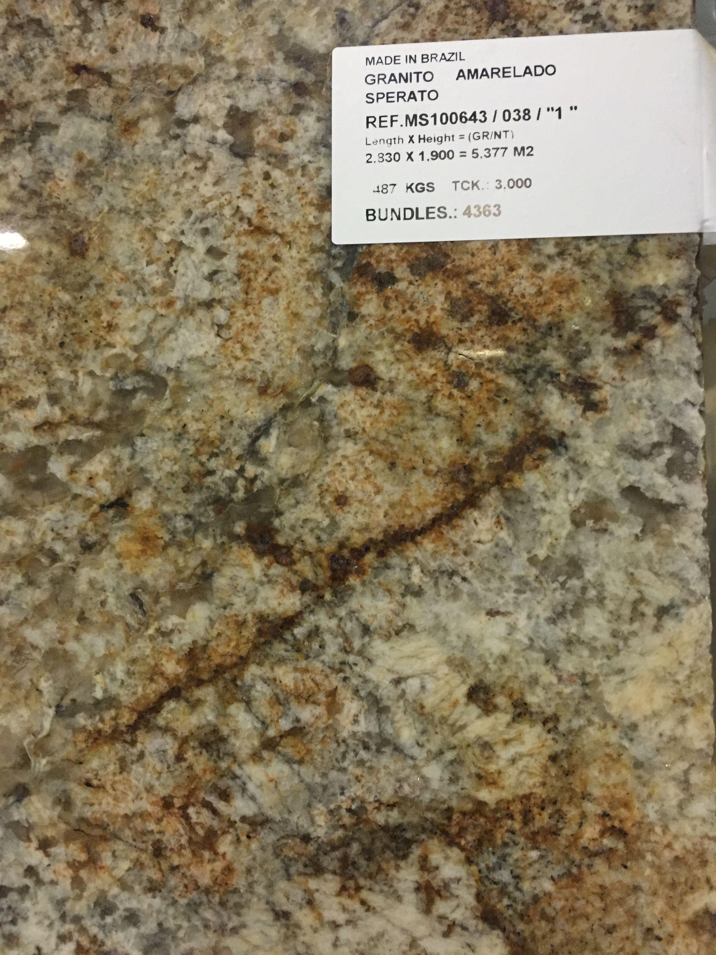 3cm Speratus Granito Amarelado Sperato Bin B 7 For Use In Kitchen And 3 4 Bath