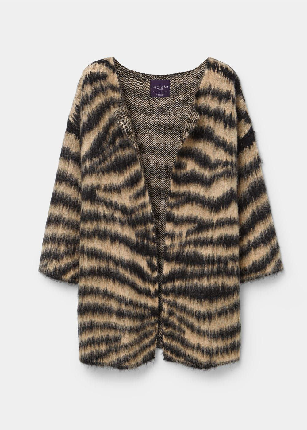 Cardigan mit animal-print | VIOLETA BY MANGO