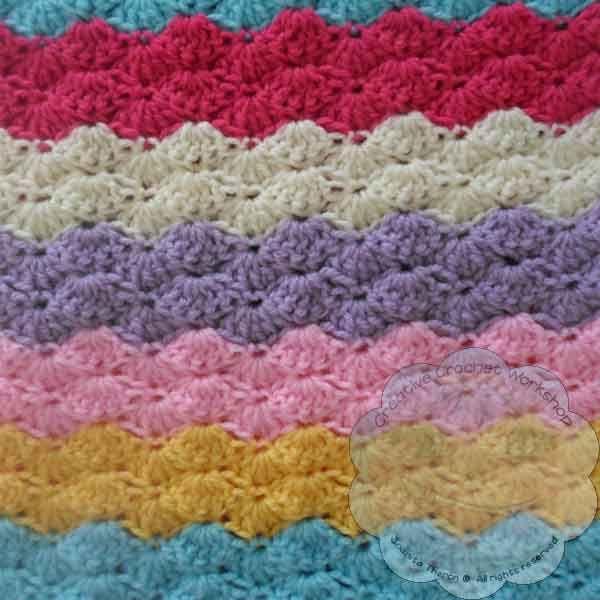 Creative Crochet Workshop: Rainbow Shells Baby Blanket | Crafts ...