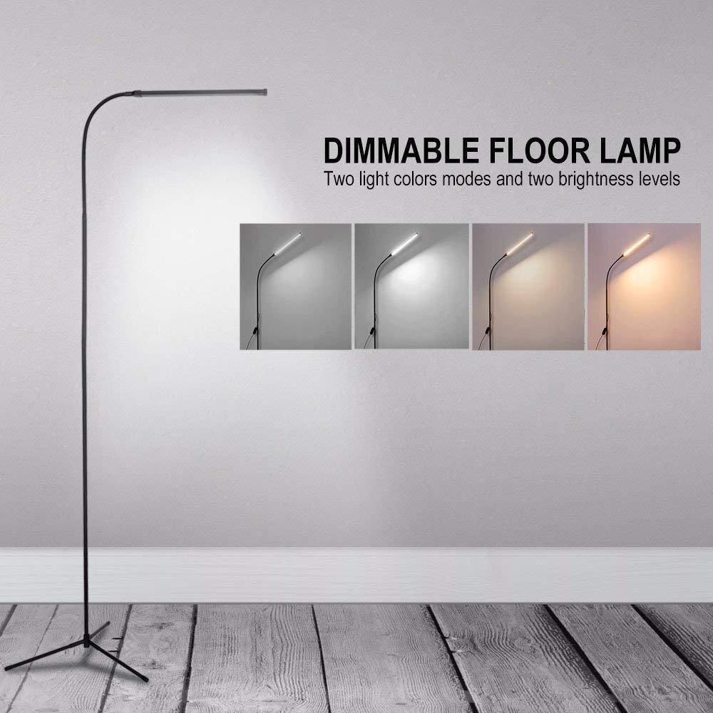 Details About Adjustable Led Floor Lamp Light Standing Reading