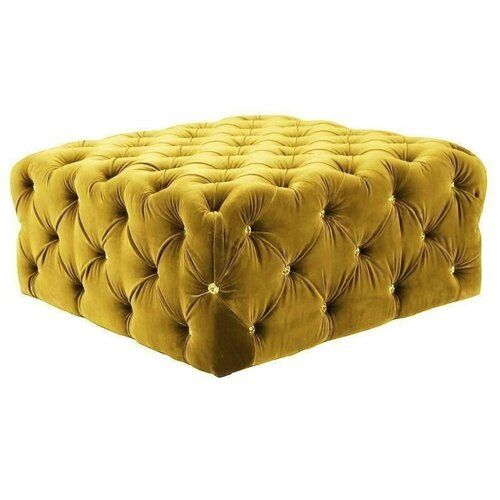 Swarovski Crystals Tufted Cocktail Ottoman Bellefierte Upholstery Colour Yellow Folding Storage Ottoman Cocktail Ottoman Ottoman