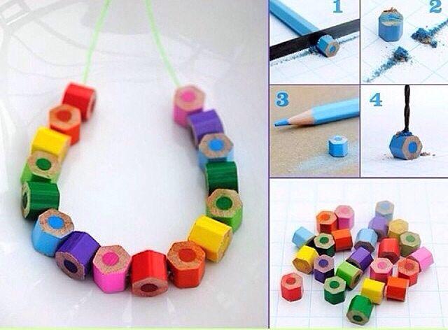 DIY pulseira lápis de cor