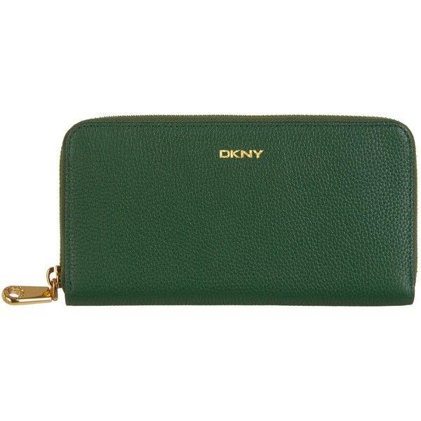 DKNY Chelsea Vintage Leather Zip Around Purse , Dark Green (510 ...