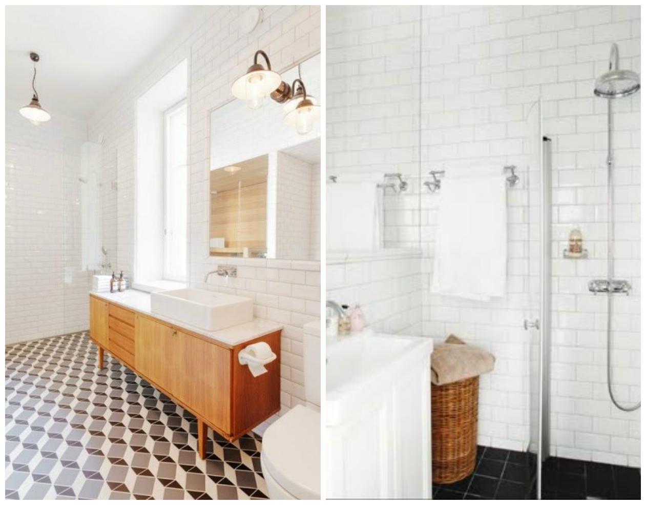afbeeldingsresultaat voor badkamer metrotegel badkamer