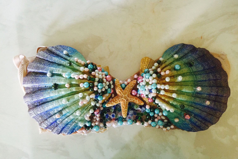 Mermaid Seashell Bra Top by PerfectLittleMadness on Etsy https://www.etsy.com/listing/240040857/mermaid-seashell-bra-top