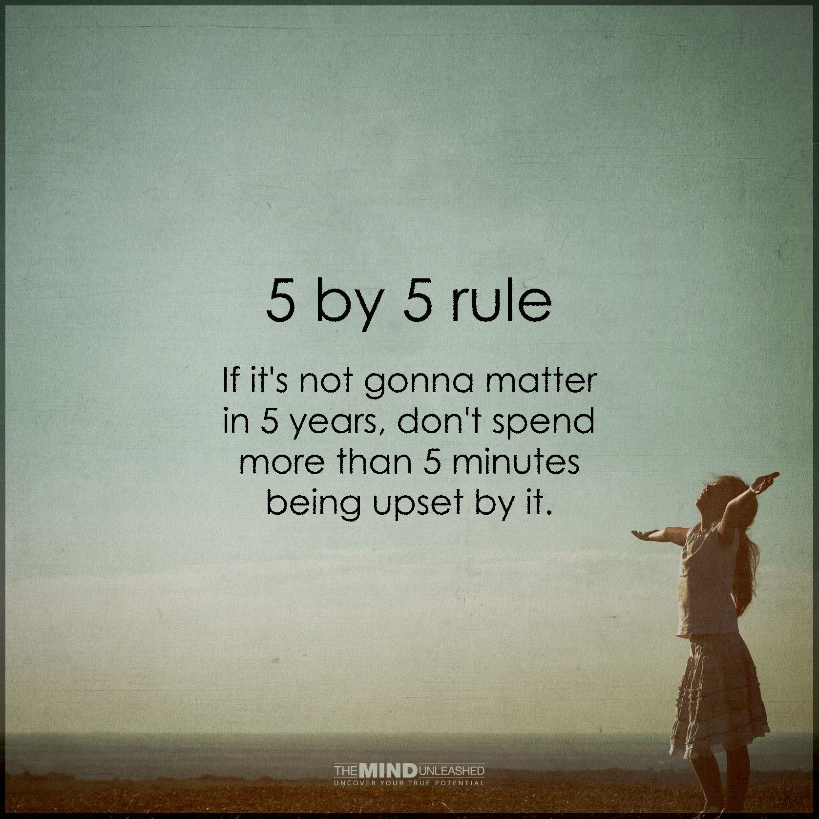 Try the 5 by 5 rule and live happier