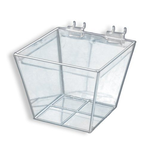 Azar 556120 6-Inch W by 6-Inch D by 5-Inch H Clear Vinyl Basket by ...