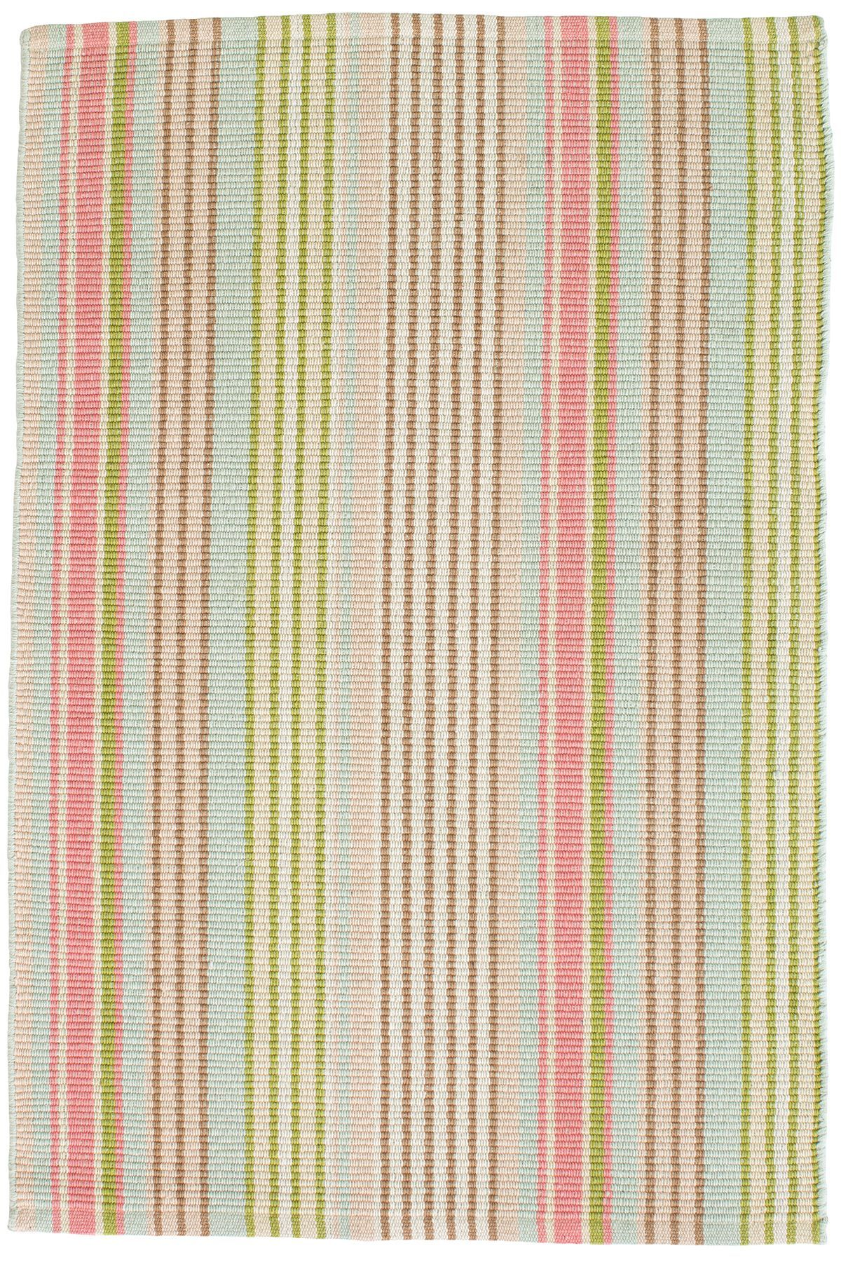 #Dashandalbert Ana Aqua Ticking Indooroutdoor Rug In Classic Ticking Stripes