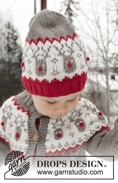 Run Run Rudolph Hat / DROPS Children 32-4 - Kostenlose Strickanleitungen von DROPS Design