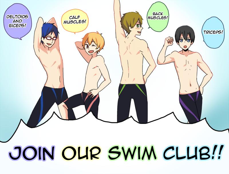 Muscle club ... From cheesecakeri ... Free! - Iwatobi Swim Club, haruka nanase, haru nanase, haru, free!, iwatobi, makoto tachibana, makoto, tachibana, nagisa hazuki, nagisa, hazuki, rei ryugazaki, rei, ryugazaki